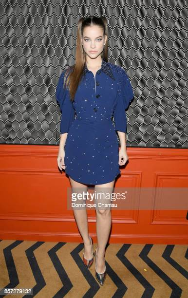Barbara Palvin attends the Miu Miu aftershow party as part of the Paris Fashion Week Womenswear Spring/Summer 2018 at Boum Boum on October 3 2017 in...