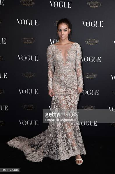 Barbara Palvin attends the Vogue 95th Anniversary Party on October 3 2015 in Paris France