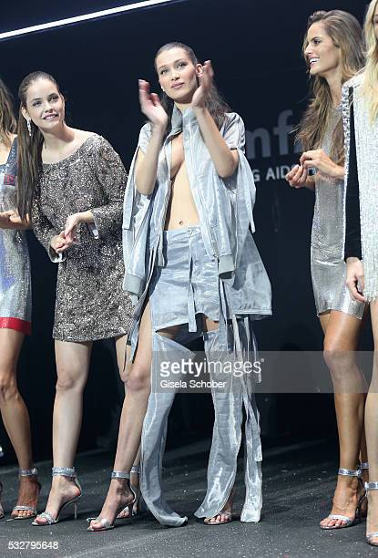 Barbara Palvin Bella Hadid and Izabel Goulart attend the amfAR's 23rd Cinema Against AIDS Gala at Hotel du CapEdenRoc on May 19 2016 in Cap d'Antibes...