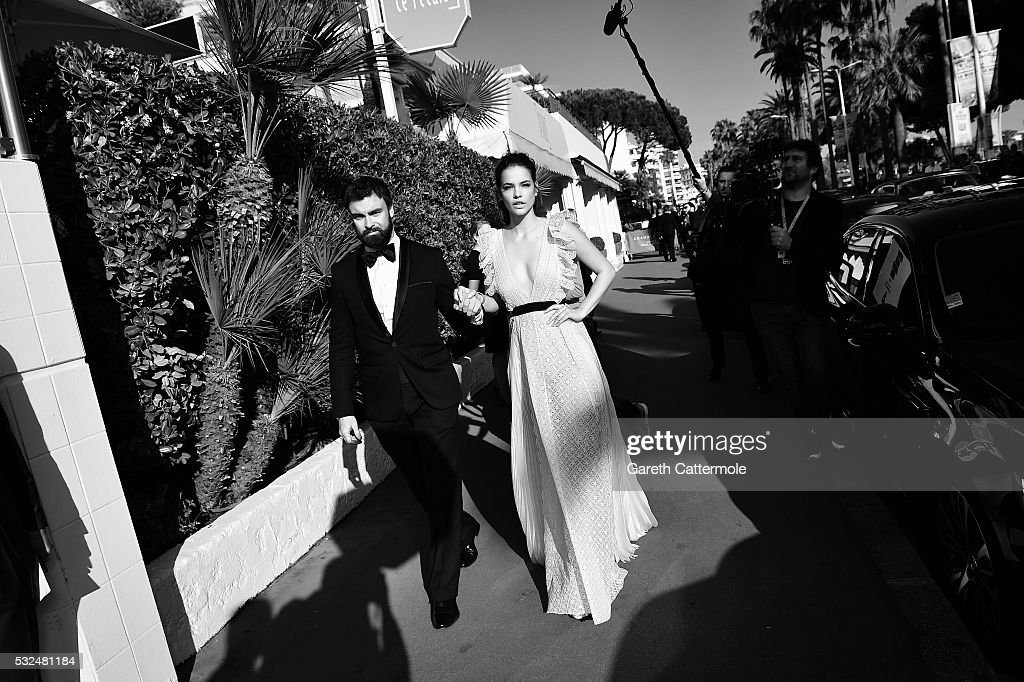 Barbara Palvin departs the Martinez Hotel during the 69th annual Cannes Film Festival on May 17 2016 in Cannes France