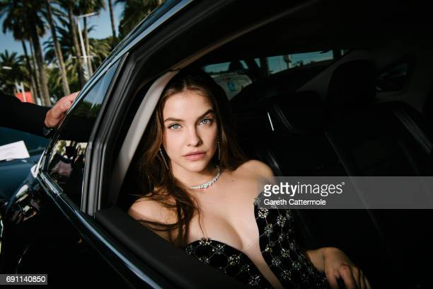 Barbara Palvin departs the Martinez Hotel during the 70th annual Cannes Film Festival on May 23 2017 in Cannes France
