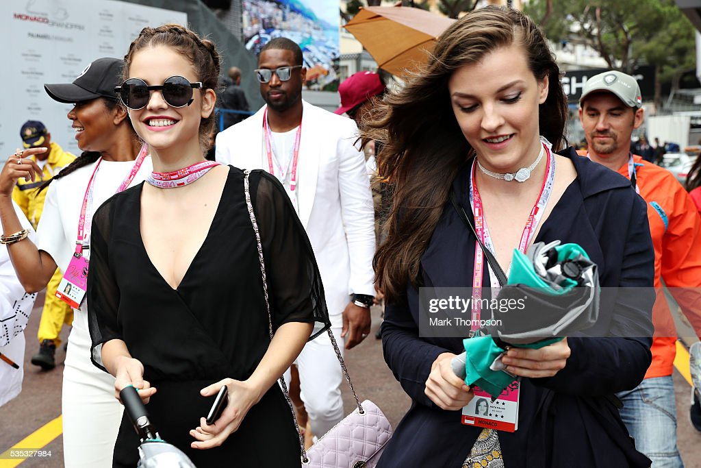 <a gi-track='captionPersonalityLinkClicked' href=/galleries/search?phrase=Barbara+Palvin&family=editorial&specificpeople=7190694 ng-click='$event.stopPropagation()'>Barbara Palvin</a>, model and Anita Palvin walk in the Pitlane during the Monaco Formula One Grand Prix at Circuit de Monaco on May 29, 2016 in Monte-Carlo, Monaco.