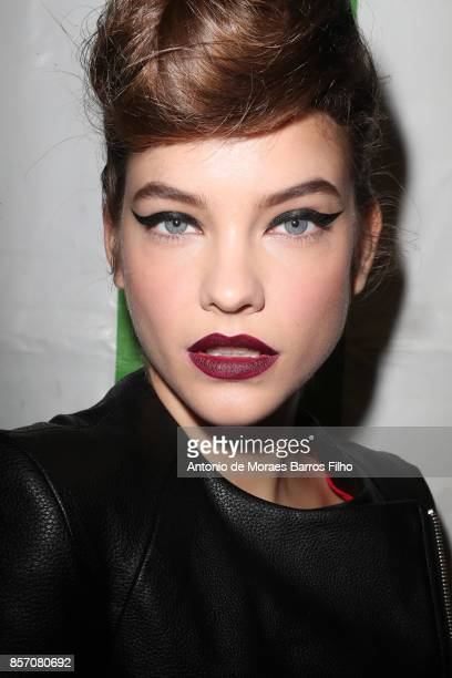 Barbara Palvin prepares Backstage Prior the L'oreal Show as part of the Paris Fashion Week Womenswear Spring/Summer 2018 on October 1 2017 in Paris...