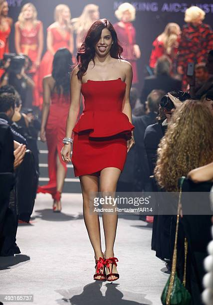 Barbara Palvin walks the runway during amfAR's 21st Cinema Against AIDS Gala Presented By WORLDVIEW BOLD FILMS And BVLGARI at Hotel du CapEdenRoc on...