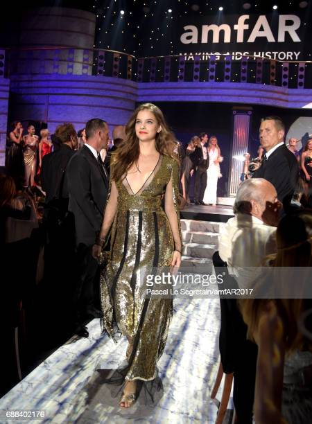 Barbara Palvin wearing Alexander McQueen walks the runway in the fashion show during the amfAR Gala Cannes 2017 at Hotel du CapEdenRoc on May 25 2017...