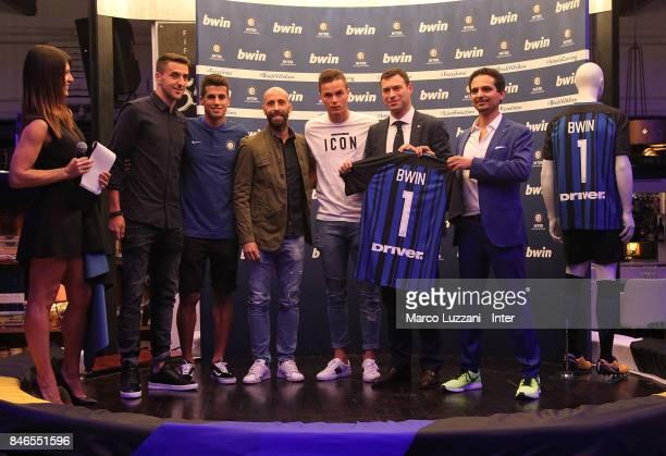 Barbara Pedrotti Matias Vecino Joao Cancelo Borja Valero Zinho Vanheusden FC Internazionale Milano Chief Revenue Officer Michael Gandler and bwin...
