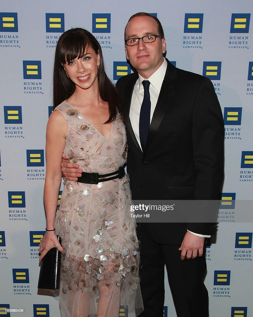 Barbara Pierce Bush and HRC President Chad Griffin attend The 2013 Greater New York Human Rights Campaign Gala at The Waldorf=Astoria on February 2, 2013 in New York City.