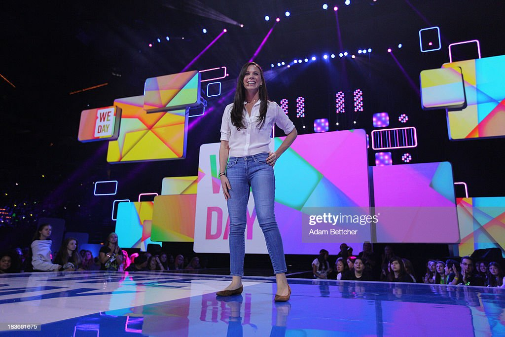 Barbara Pierce Bush speaks during the We Day Minnesota event at the Xcel Energy Center in St. Paul, Minnesota on October 8, 2013