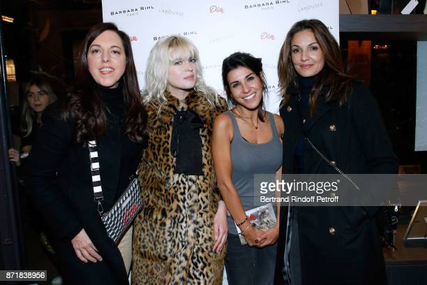 Barbara Rihl Cecile Cassel Reem Kherici and Nadia Fares attend Reem Kherici signs her book 'Diva' at the Barbara Rihl Boutique on November 8 2017 in...