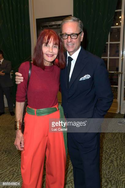 Barbara Rix Sieff and Madison Cox attend the Opening Party at Yves Saint Laurent Museum as part of the Paris Fashion Week Womenswear Spring/Summer...
