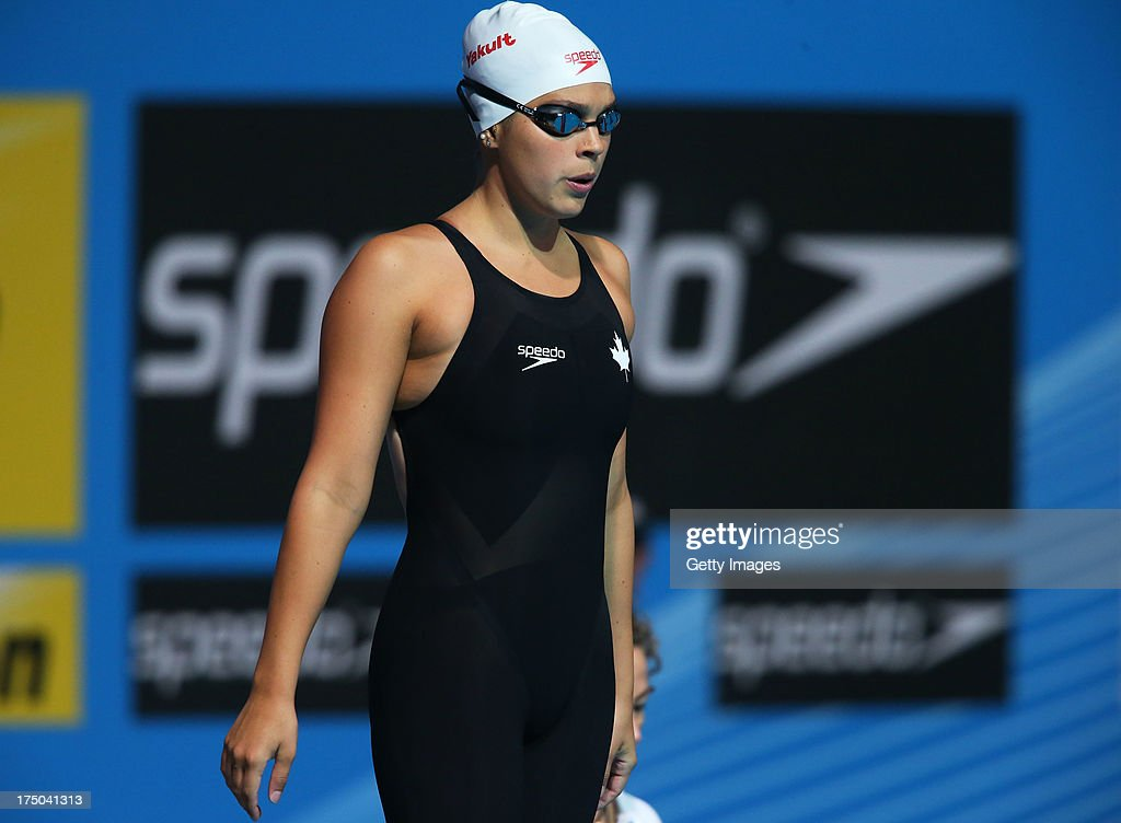 Barbara Rojas-Jardin of Canada competes during the Swimming Women's 200m Freestyle Heat 5 on day eleven of the 15th FINA World Championships at Palau Sant Jordi on July 30, 2013 in Barcelona, Spain.