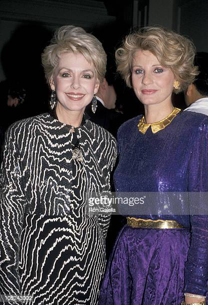 Barbara Rush and Jill Ireland during American Ireland Fund Premiere Heritage Awards Dinner at Beverly Hilton Hotel in Beverly Hills CA United States