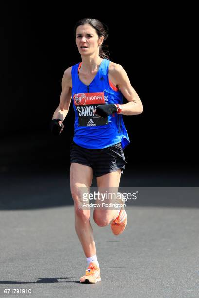 Barbara Sanchez of Ireland competes during the Virgin Money London Marathon on April 23 2017 in London England