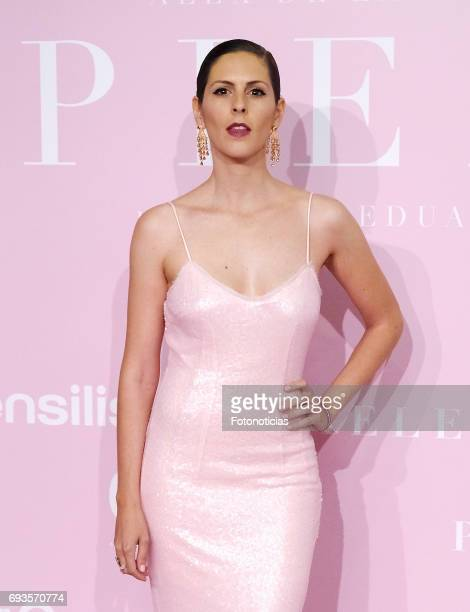 Barbara Santacruz attends the 'Pieles' premiere pink carpet at Capitol cinema on June 7 2017 in Madrid Spain