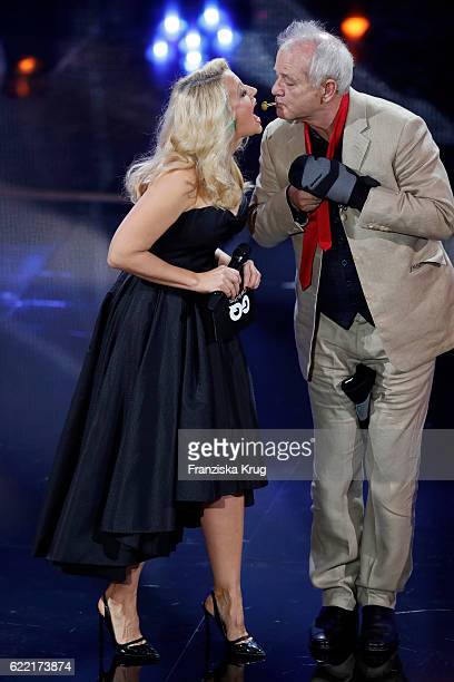 Barbara Schoenberger and Bill Murray are seen on stage at the GQ Men of the year Award 2016 show at Komische Oper on November 10 2016 in Berlin...