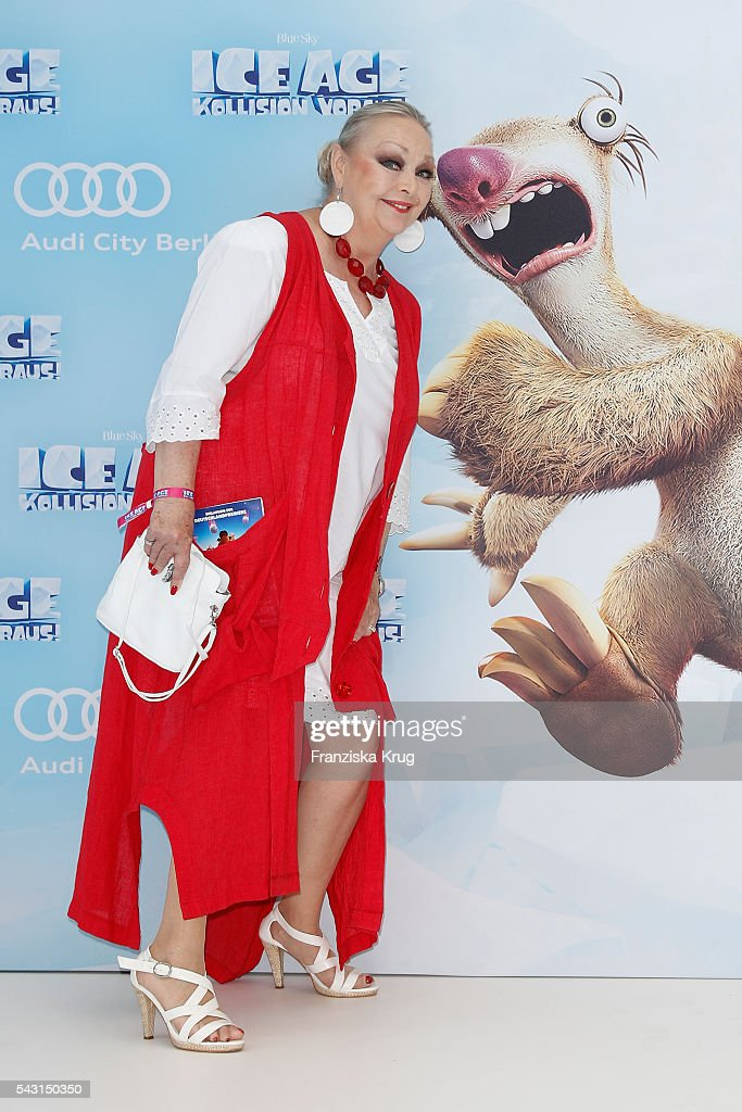 Barbara Schoene attends the 'Ice Age - Kollision Voraus' German Premiere at CineStar on June 26, 2016 in Berlin, Germany.
