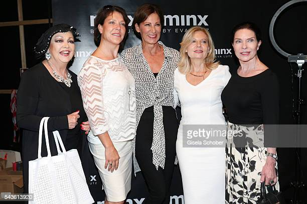 Barbara Schoene Janina Hartwig designer Eva Lutz Sabine Postel and Gudrun Landgrebe attend the Minx by Eva Lutz show during the MercedesBenz Fashion...