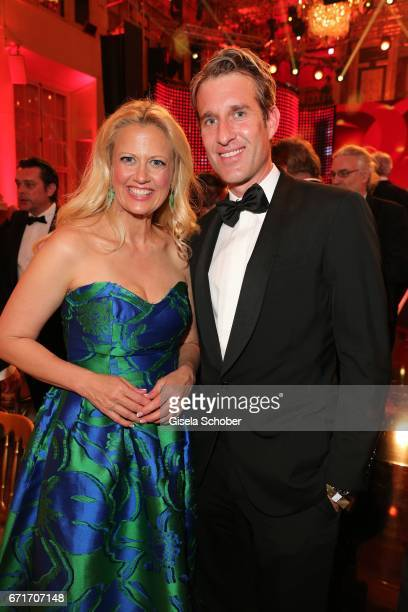 Barbara Schoeneberger and Oliver Fritz Bunte during the ROMY award at Hofburg Vienna on April 22 2017 in Vienna Austria