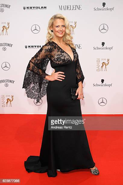 Barbara Schoeneberger arrives at the Bambi Awards 2016 at Stage Theater on November 17 2016 in Berlin Germany
