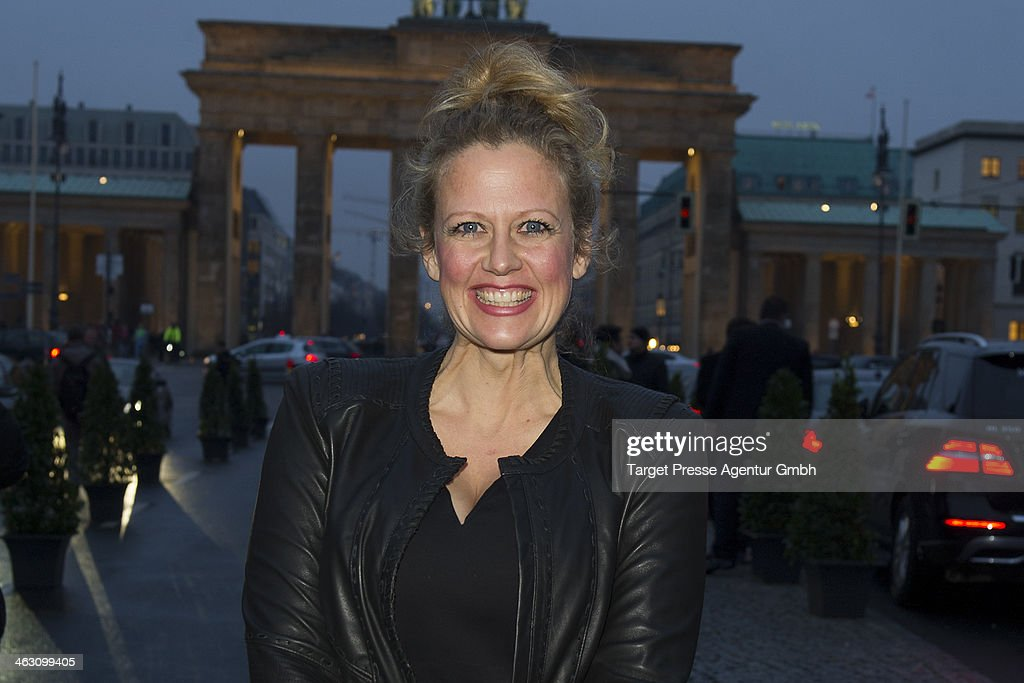 <a gi-track='captionPersonalityLinkClicked' href=/galleries/search?phrase=Barbara+Schoeneberger&family=editorial&specificpeople=220412 ng-click='$event.stopPropagation()'>Barbara Schoeneberger</a> arrives at the Marc Cain show during Mercedes-Benz Fashion Week Autumn/Winter 2014/15 at Brandenburg Gate on January 16, 2014 in Berlin, Germany.