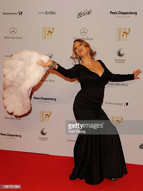 Barbara Schoeneberger arrives for the Bambi 2010 Award at Filmpark Babelsberg on November 11 2010 in Potsdam Germany