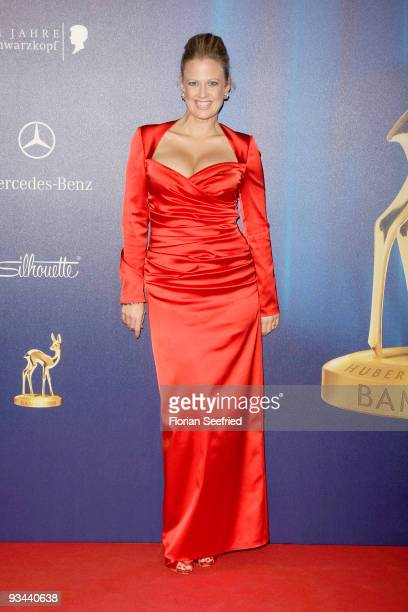 Barbara Schoeneberger arrives for the Bambi Awards 2009 at the Metropolis hall at Filmpark Babelsberg on November 26 2009 in Potsdam Germany