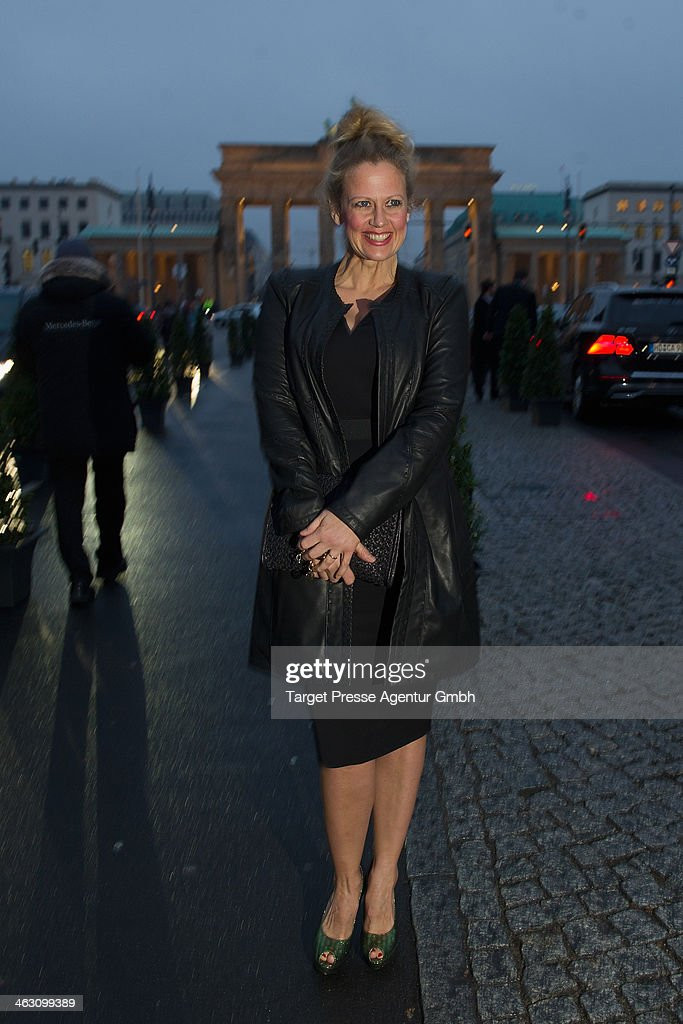 <a gi-track='captionPersonalityLinkClicked' href=/galleries/search?phrase=Barbara+Schoeneberger&family=editorial&specificpeople=220412 ng-click='$event.stopPropagation()'>Barbara Schoeneberger</a> attend the Marc Cain show during Mercedes-Benz Fashion Week Autumn/Winter 2014/15 at Brandenburg Gate on January 16, 2014 in Berlin, Germany.
