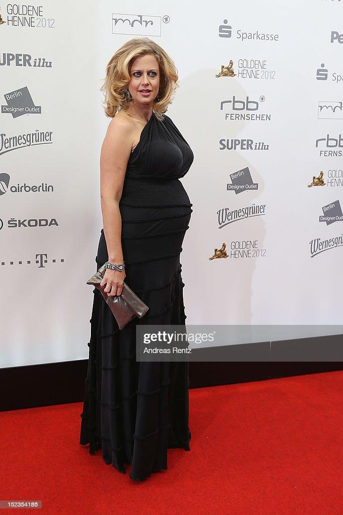 Barbara Schoeneberger attends for the 'Goldene Henne' 2012 award on September 19, 2012 in Berlin, Germany.
