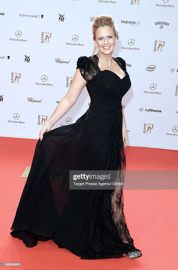 Barbara Schoeneberger attends the Bambi Awards 2013 at Stage Theater on November 14, 2013 in Berlin, Germany.
