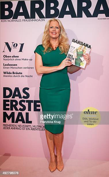 Barbara Schoeneberger attends the BARBARA Magazine Launch on October 15 2015 in Berlin Germany