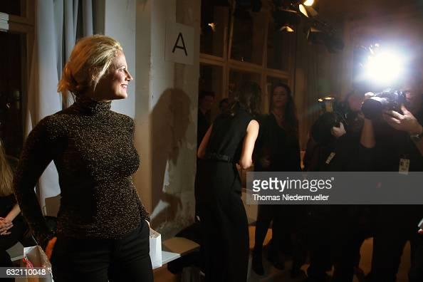 Barbara Schoeneberger attends the Dawid Tomaszewski X Patrizia Aryton show during the MercedesBenz Fashion Week Berlin A/W 2017 at Kaufhaus Jandorf...