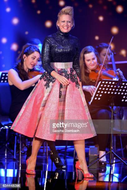 Barbara Schoeneberger attends the 'Eurovision Song Contest 2017 Unser Song' show on February 9 2017 in Cologne Germany
