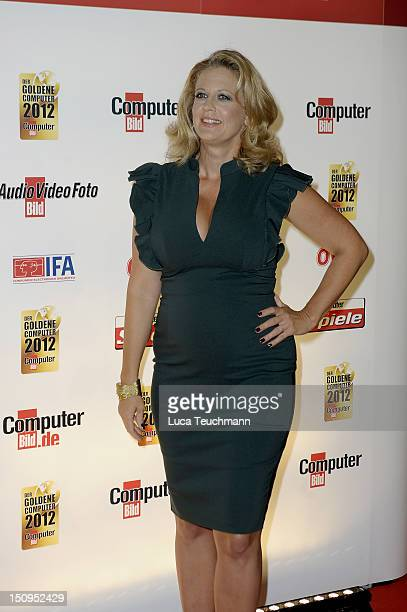 Barbara Schoeneberger attends the Goldener Computer Award at the Axel Springer Haus on August 29 2012 in Berlin Germany