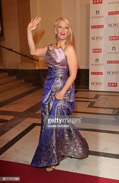 Barbara Schoeneberger during the 27th ROMY Award 2015 at Hofburg Vienna on April 16 2016 in Vienna Austria