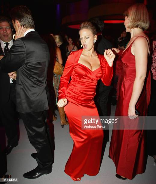 Barbara Schoeneberger enjoys the Bambi Awards 2009 after show party at Metropolis Hall at the Filmpark Babelsberg on November 26 2009 in Potsdam...