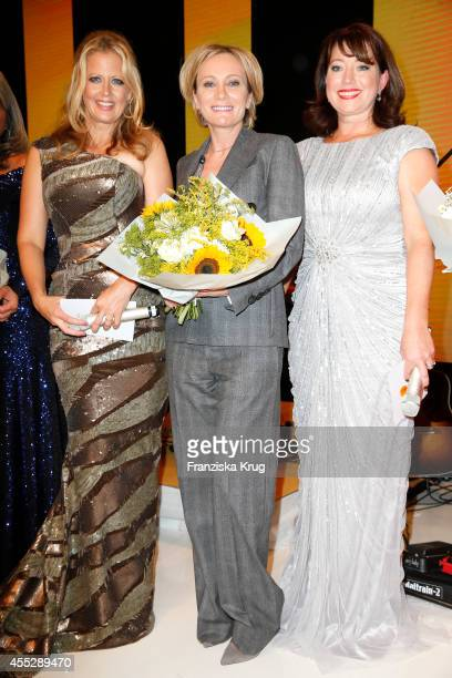 Barbara Schoeneberger Patricia Kaas and Ruth Neri attend the Dreamball 2014 at the Ritz Carlton on September 11 2014 in Berlin Germany