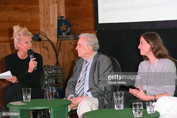 Barbara Schoeneberger Valentin Platareanu and Alexandra Maria Lara attend the 'Talk About Homeland' during the international Film ohne Grenzen...