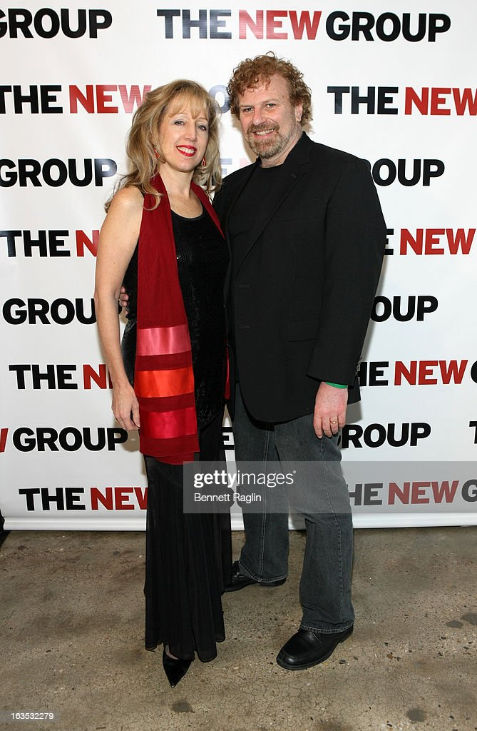 Barbara Schottenfeld and Paul Bogaev attend The New Group Bright Lights Off-Broadway 2013 Gala at Tribeca Rooftop on March 11, 2013 in New York City.
