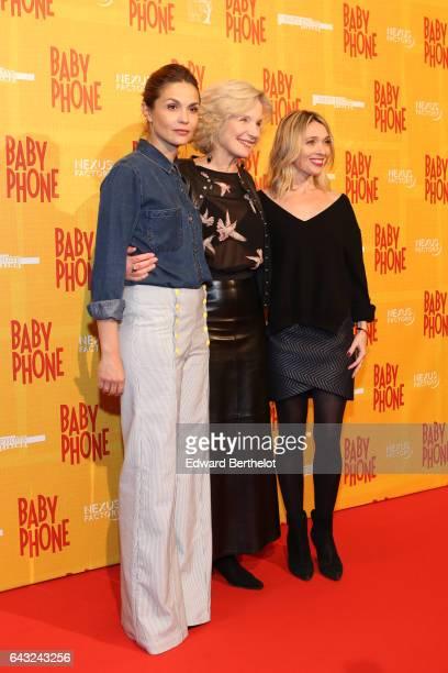 Barbara Schulz MarieChristine Adam and Anne Marivin during 'Baby Phone' Paris Premiere at Cinema UGC Normandie on February 20 2017 in Paris France