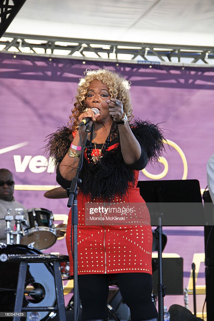Barbara Shorts performs during the Verizon Super Bowl Boulevard at Woldenberg Park on February 1, 2013 in New Orleans, Louisiana.