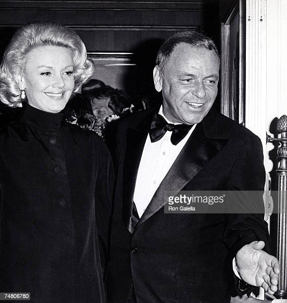 Barbara Sinatra and Frank Sinatra at the Chasen's Restaurant in Beverly Hills California