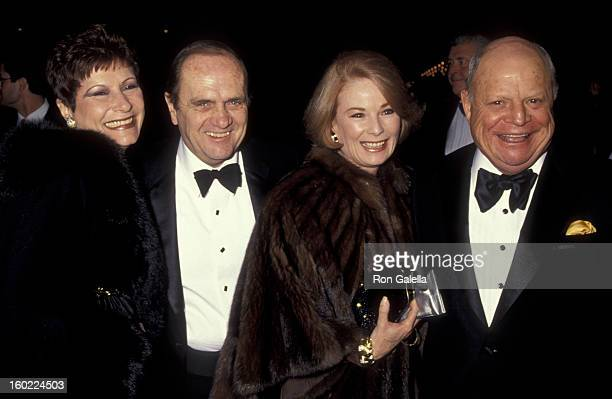 Barbara Sklar actor Bob Newhat wife Ginny Newhat and comic Ron Rickles attend the premiere of 'The Russian House' on December 4 1990 at the Cineplex...