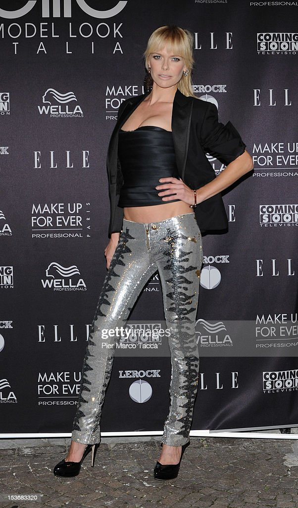 Barbara Snellemburg attends 2012 Elite model look Italia photocall on October 8, 2012 in Milan, Italy.