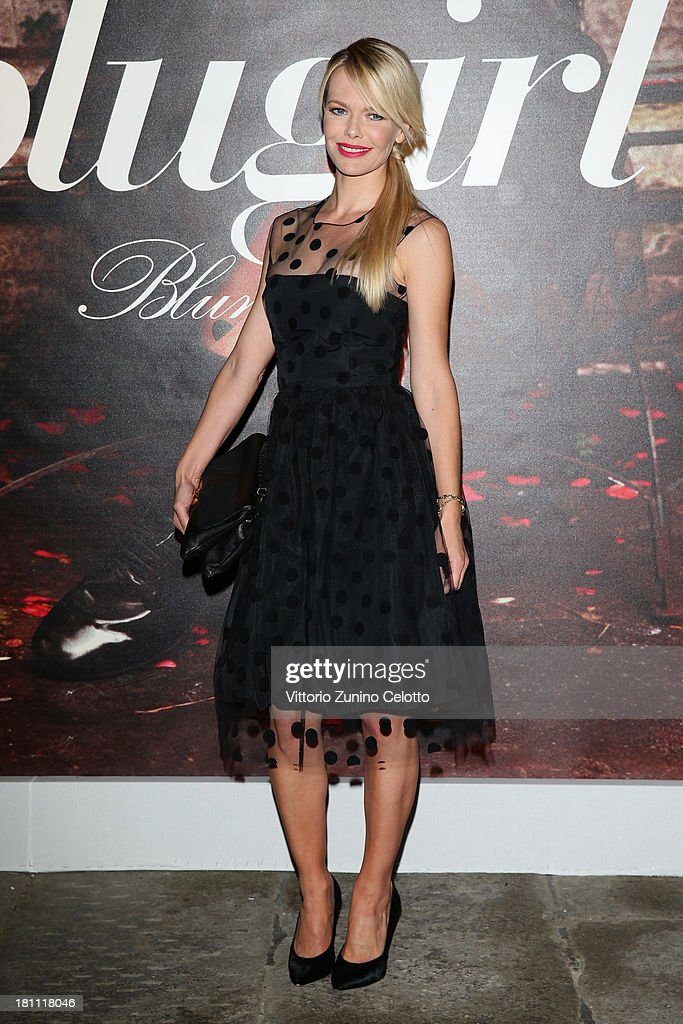 Barbara Snellenburg attends the Blugirl show as a part of Milan Fashion Week Womenswear Spring/Summer 2014 on September 19, 2013 in Milan, Italy.