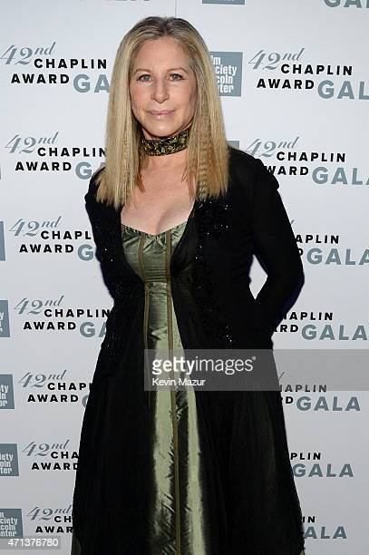 Barbara Streisand attends the 42nd Chaplin Award Gala at Alice Tully Hall Lincoln Center on April 27 2015 in New York City