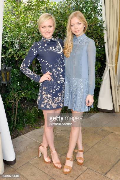 Barbara Sturm and Charly Sturm attend NETAPORTER and Dr Barbara Sturm Host PreOscars Lunch in Los Angeles at Chateau Marmont on February 24 2017 in...