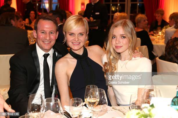 Barbara Sturm and her husband Adam Waldmann and her daughter Charly Sturm during the Gala Spa Awards at Brenners ParkHotel Spa on March 25 2017 in...