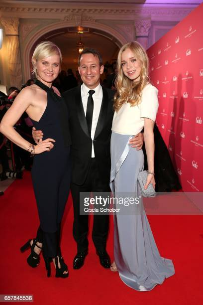 Barbara Sturm and her husband Adam Wladmann and her daughter Charly Sturm during the Gala Spa Awards at Brenners ParkHotel Spa on March 25 2017 in...