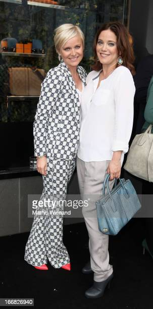 Barbara Sturm and Muriel Baumeister attend Tod's DD Bag Collection Presentation at Tod's Store at Koenigsalle 12 on April 17 2013 in Duesseldorf...