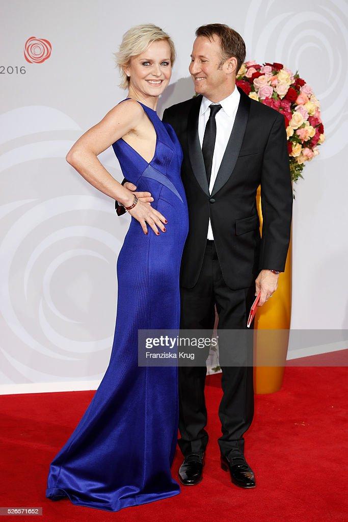 Barbara Sturm Waldman and Adam Waldman attend the Rosenball 2016 on April 30 in Berlin, Germany.